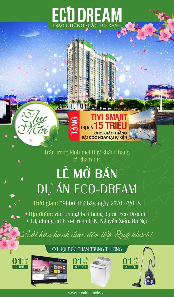 Thông tin sự kiện mở bán dự án BĐS cuối tuần ngày 27-28/01/2018 Thu-moi-eco-dream