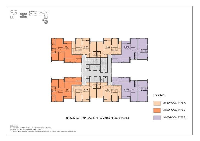Mặt bằng toàn nhà S3 chung cư Season Avenue