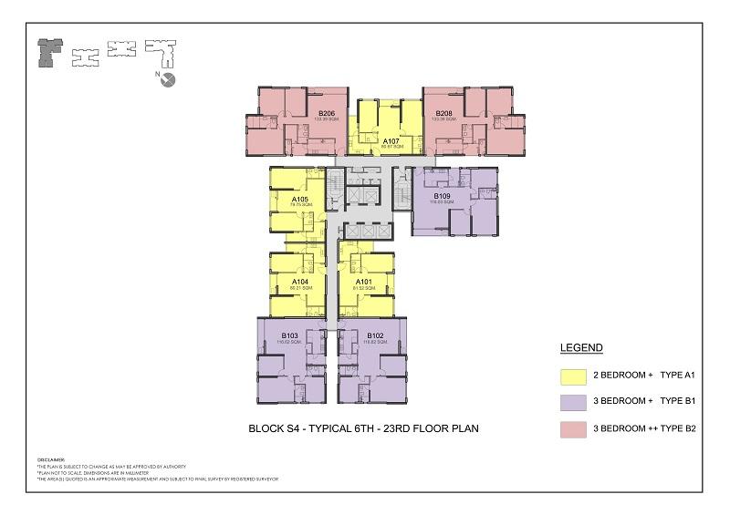 Mặt bằng toàn nhà S4 chung cư Season Avenue