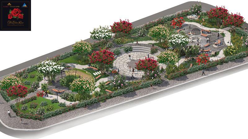 Khu công viên chính biệt thự The Eden Rose