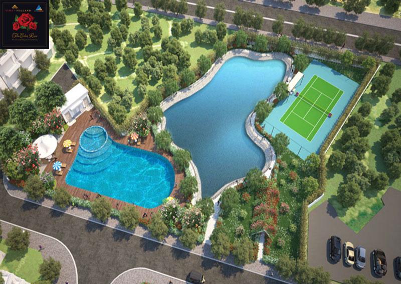 Khu bể bơi của biệt thự The Eden Rose