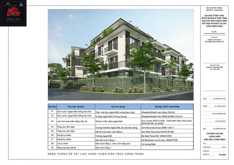 Thiết kế chi tiết kiến trúc khu biệt thự The Eden Rose