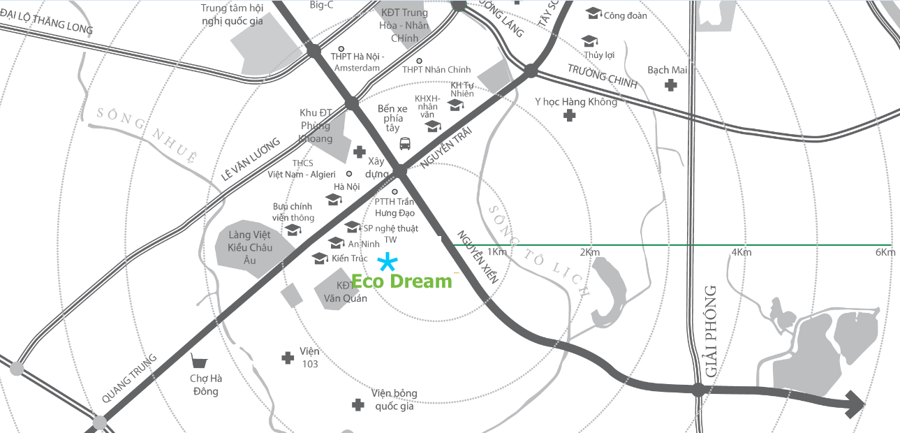 Vị trí dự án Eco Dream City Nguyễn Xiển